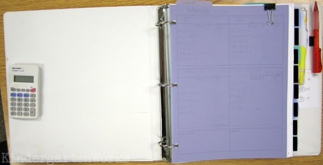 Guided Reading Binder - Velcro In Useful Items