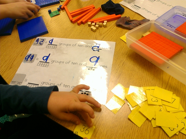 Keeping Math Games Zone Simple - Marker Activity Decomposing Numbers