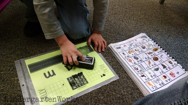 A Fun Way to Get Kinders Blending CVC Words - Turn it into a game!