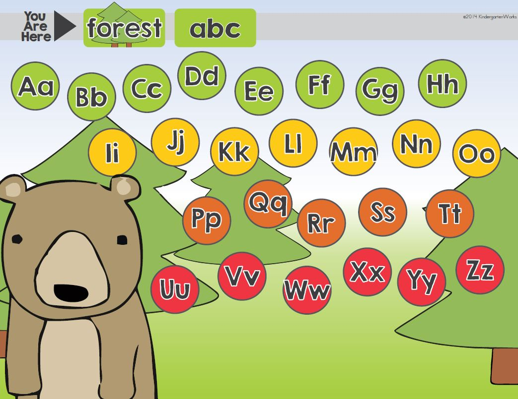 Computer Center Reading Made Simple {Common Core} - This is the best way to practice ABC's in the computer center for my kiddos. Easy to differentiate