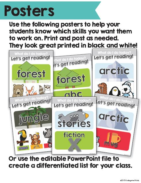 Computer Center Reading Made Simple - These posters will make changing out what they do each week SO easy!