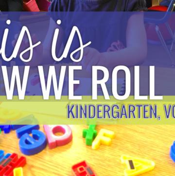 This is How We Roll: Kindergarten, Volume 1