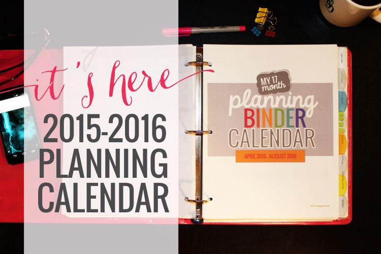 Printable Calendar 2015-2016
