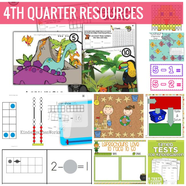 Quarter 4 Downloadable Resources - KindergartenWorks