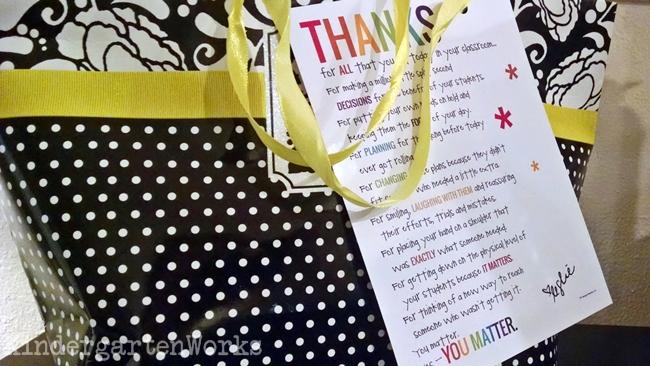 Teacher Appreciation Card Tag
