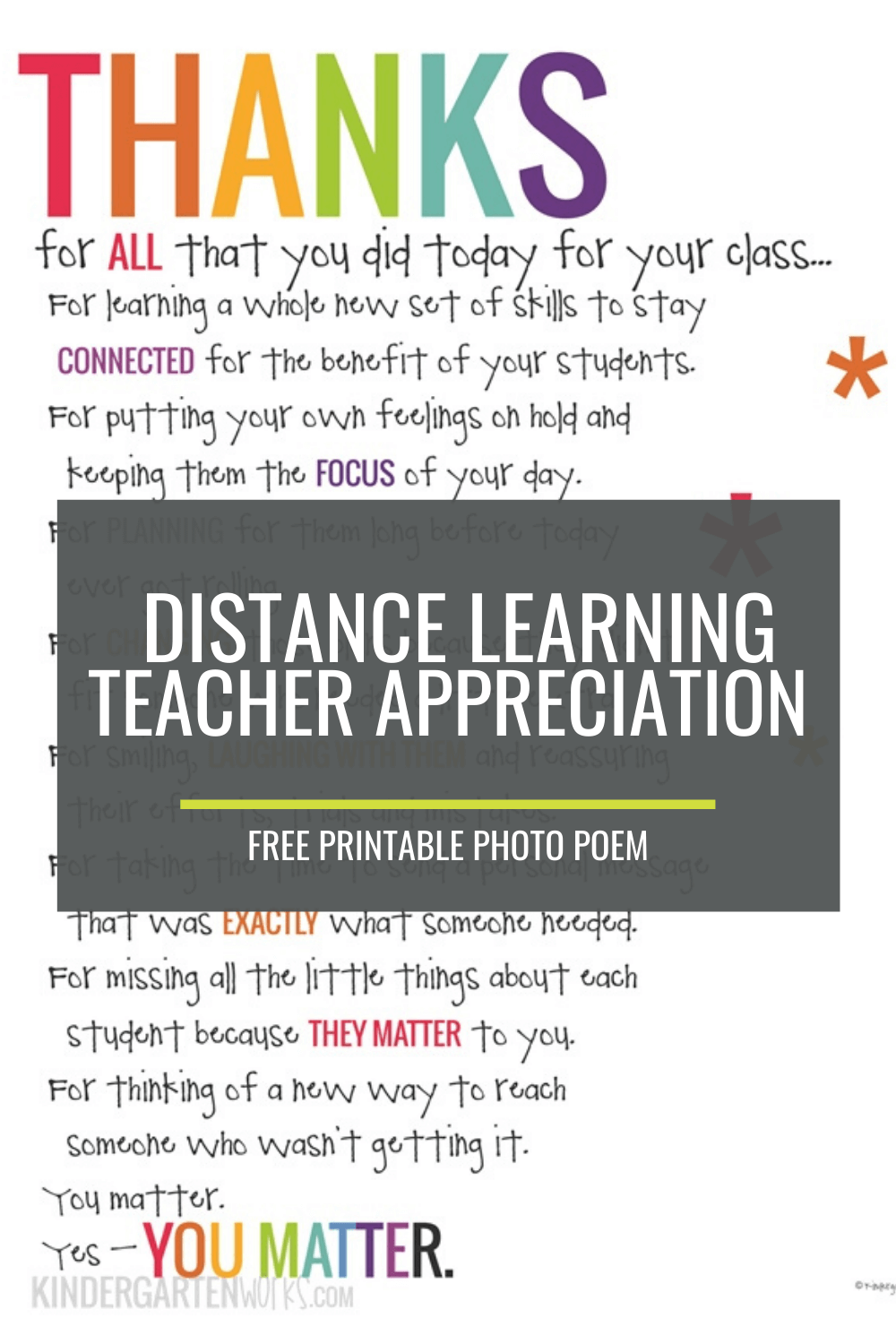 If You Didn\'t Hear This From Anyone Today (Teacher Appreciation Poem)