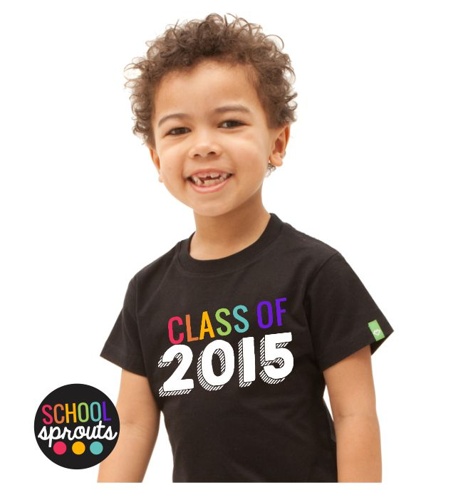 kindergarten graduation tshirt - Introducing School Sprouts - Cool Shirts for Kids