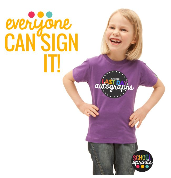 last day of school autograph shirt - Introducing School Sprouts - Cool Shirts for Kids
