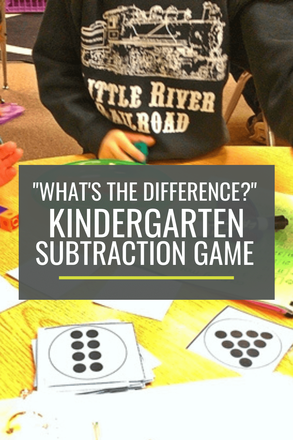 Free Kindergarten Subtraction Game: What\'s the Difference
