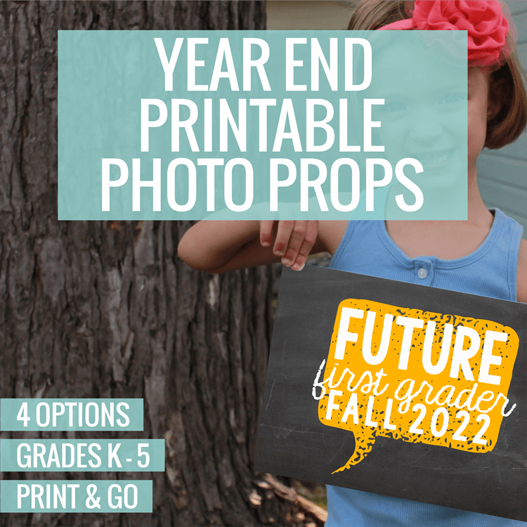 Printable End Of The Year Photo Prop