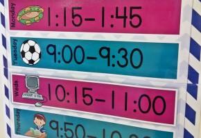 Weekly Specials Schedule - Kindergartenworks