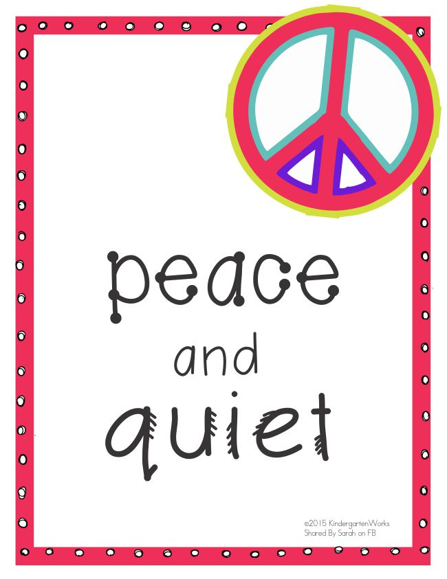 5 Quick Hallway Transitions {Printable} - KindergartenWorks: Peace and Quiet