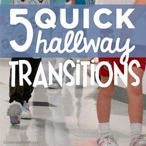 5 Quick Hallway Transitions {Printable} KindergartenWorks
