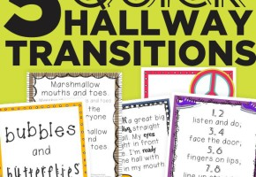 5 Quick Hallway Transitions {Printable} - KindergartenWorks
