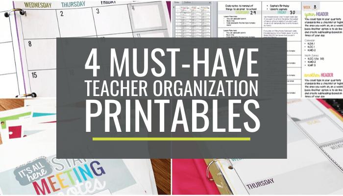 Easy Must-Have Teacher Organization Printables