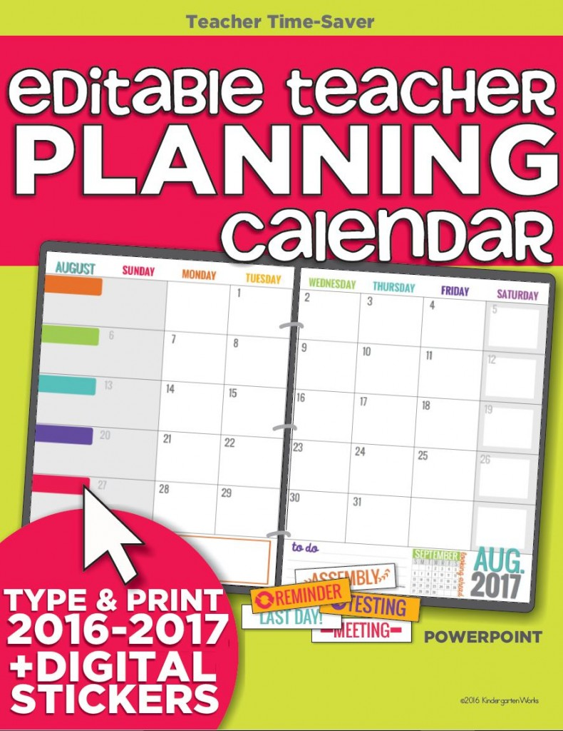 Calendar For Organization : Teacher organization must have printables