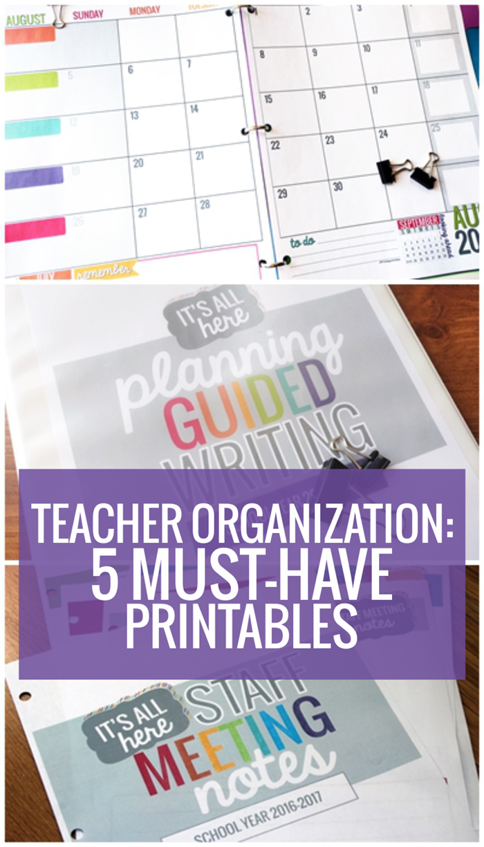 Must Have Printables for Easy Teacher Organization