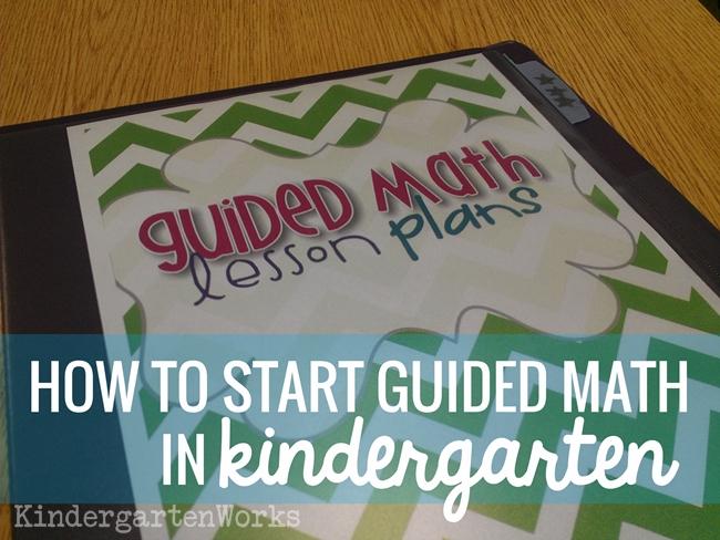 Guided Math in Kindergarten: Mission Possible | KindergartenWorks