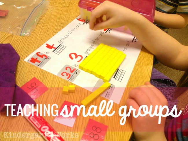 teaching small group math kindergarten