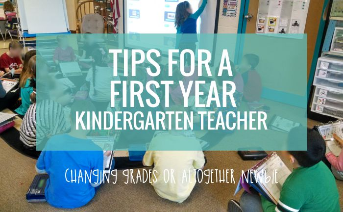 These are great, easy tips for a first year kindergarten teacher