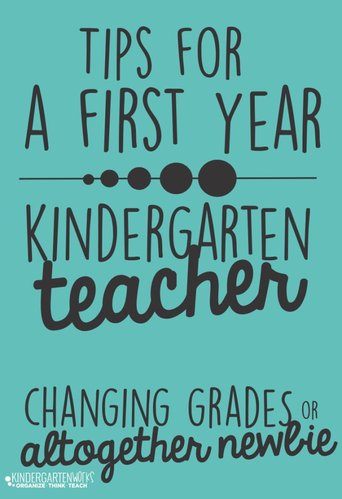 Tips for a first year kindergarten teacher - I love this. This seems to be super helpful to a new teacher and not overwhelming... since taking on a new grade level (or starting your first year of teaching) is stressful enough!