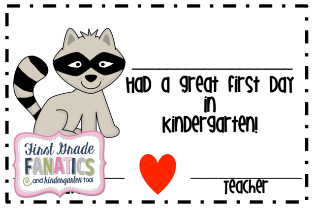 (27 Fresh Kissing Hand Freebies and Teaching Resources) First Day of School Certificate - KindergartenWorks.com
