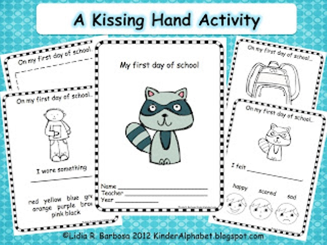 Clever image pertaining to kissing hand printable book