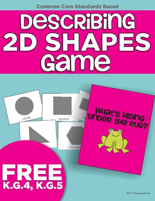 Describing 2D Shapes Game {Freebie Printable}