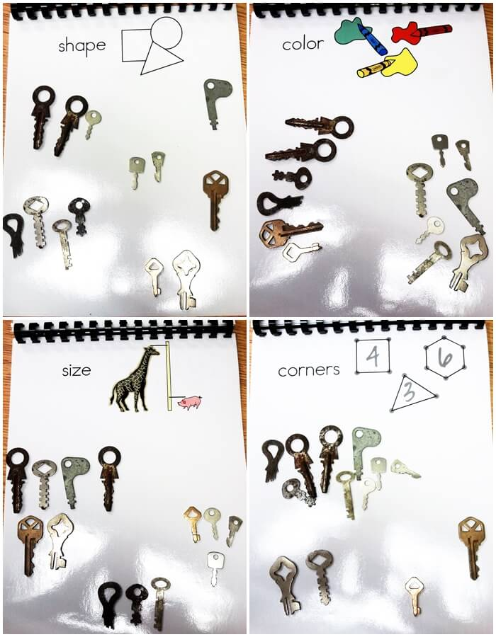 Sorting keys in different ways