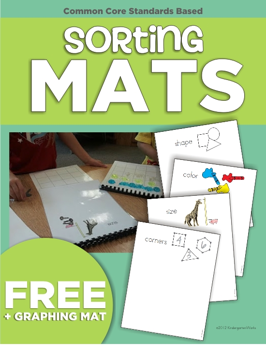 8 Tools to Teach Sorting in Kindergarten - Kindergarten Sorting Mats