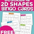 Describing 2D Shapes Bingo Cards {Freebie Printable}