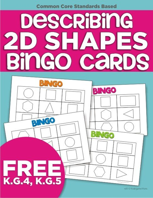 Luscious image with shape bingo printable