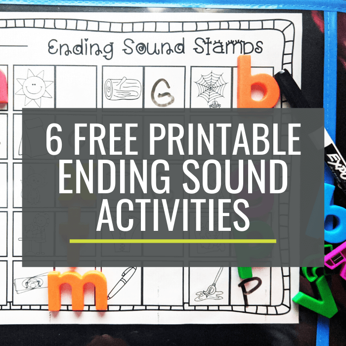 Ending Sounds Activities for Small Groups