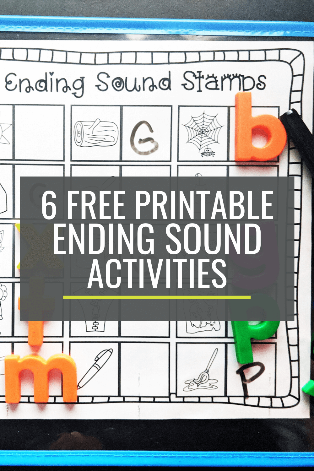 6 Free Ending Sounds Activities For Small Groups Kindergartenworks
