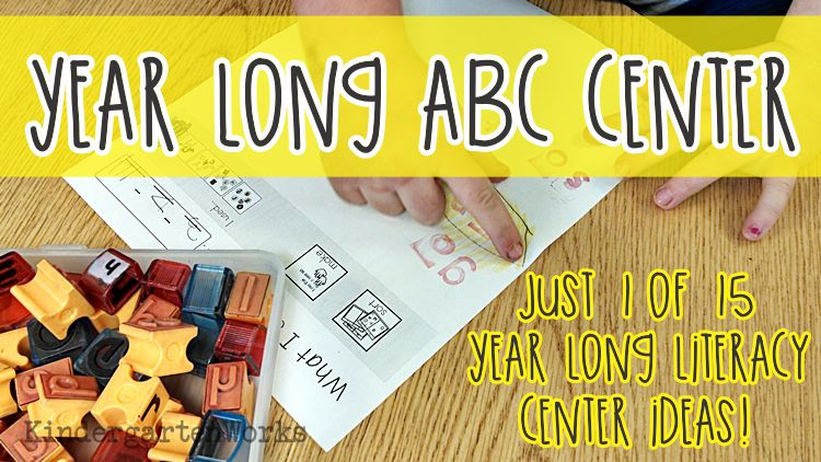 ABC Center - See, Stamp, Write and Explore - KindergartenWorks