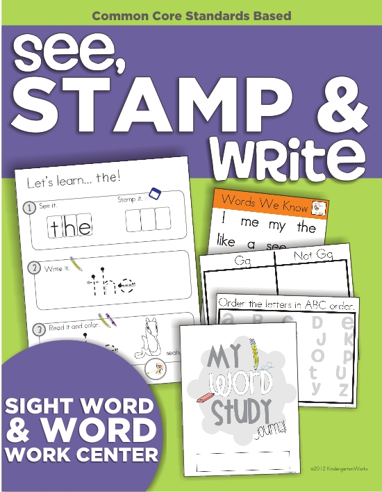 ABC Literacy Center Kindergarten - See Stamp Write - KindergartenWorks