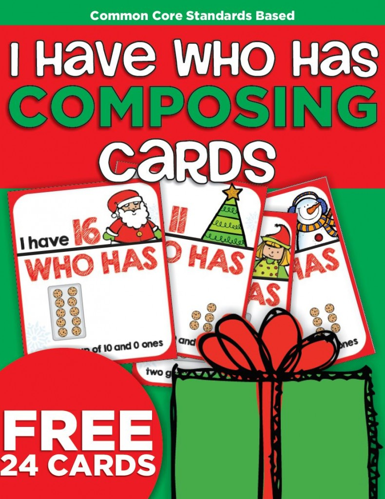 Christmas Teen Numbers I Have Who Has Card Game {Printable} - free game with 2 versions