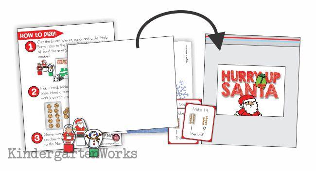 Composing Tens and Ones Christmas Race Game Printable - Easily organized