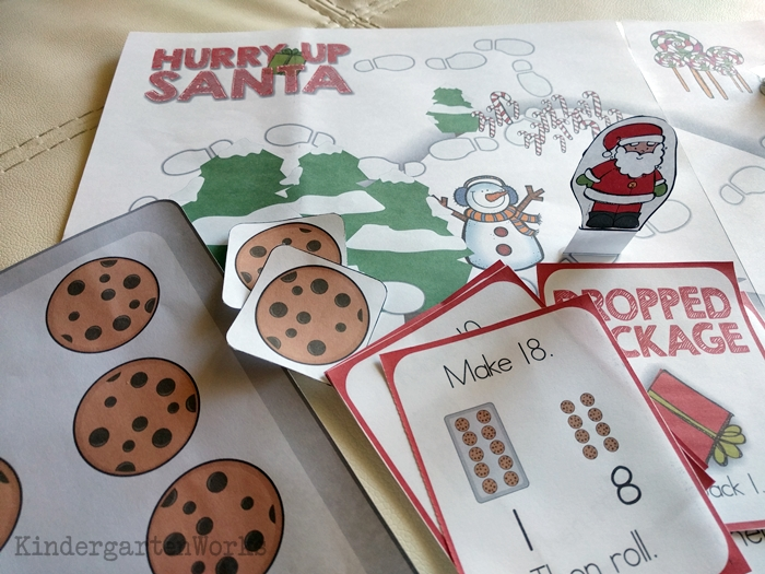 Composing and Decomposing Numbers 11 to 19 Christmas Game
