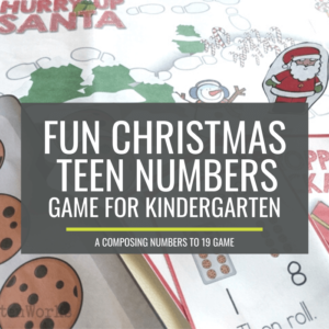 Such a perfect Composing and Decomposing Numbers 11 to 19 Christmas Game