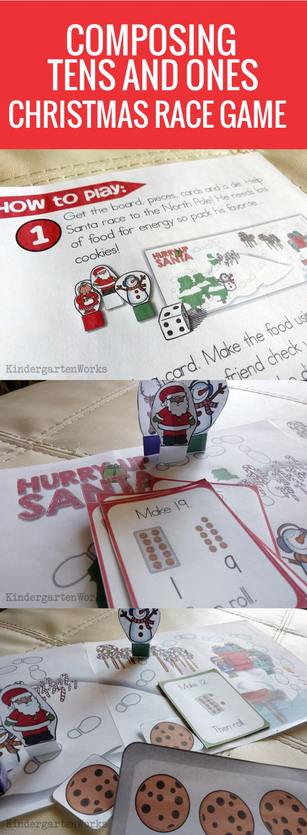 I like this Composing and Decomposing Numbers 11 to 19 Christmas Game