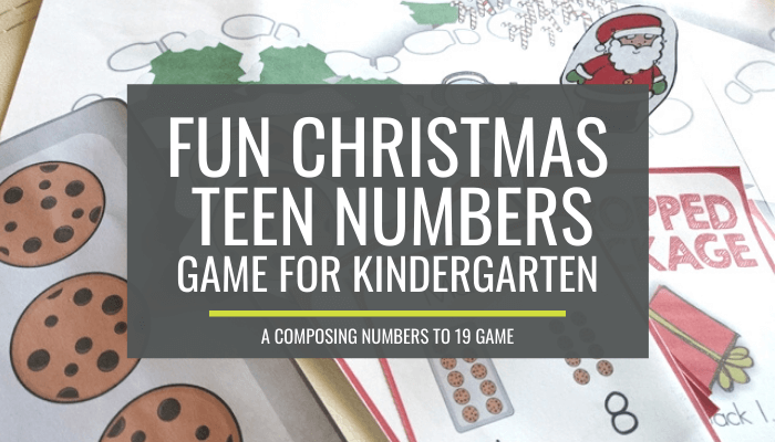 Yes - I LOVE this Composing and Decomposing Numbers 11 to 19 Christmas Game
