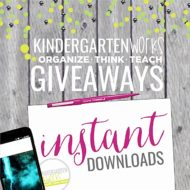 Giveaways on KindergartenWorks {Currently Closed}