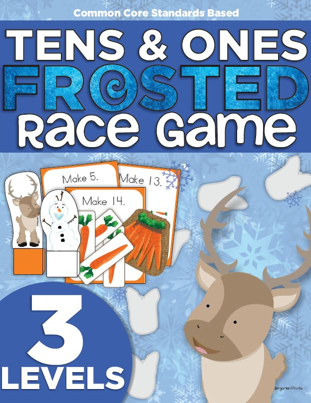 Frosted Frozen Race Game - Compose Numbers to 19