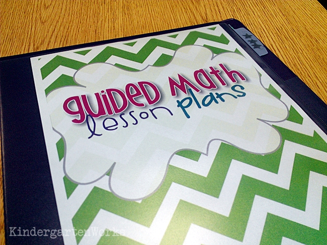 Guided Math Lesson Planning Binder