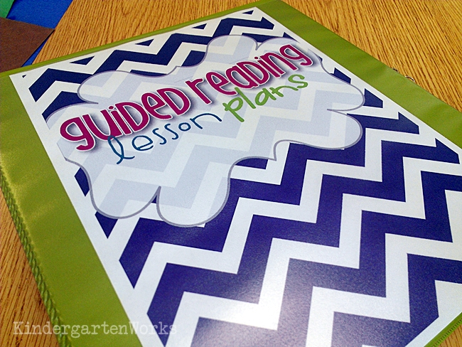 Guided Reading Planning Binder Kindergarten