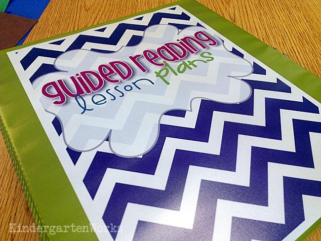 Guided Reading Planning Binder Kindergarten