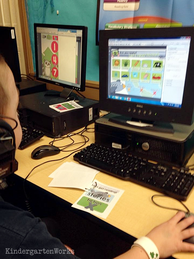 Kindergarten Reading Computer Center Easy