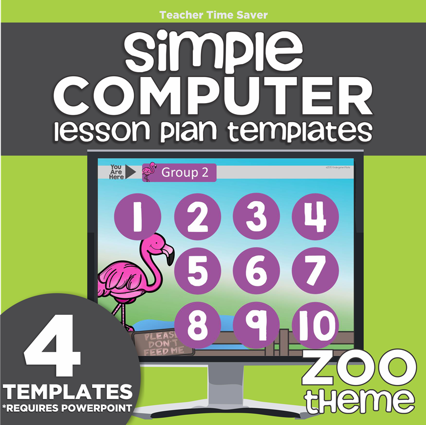 Easy K 2 Simple Computer Lesson Plan Templates Kindergartenworks