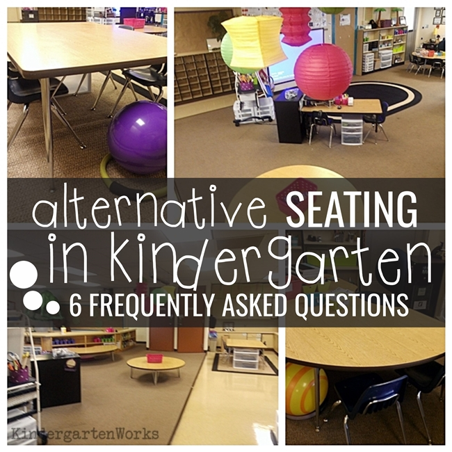 alternative seating in kindergarten